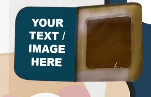 Think Inside The Box! Print your text or images inside the windows to be discovered one day at a time